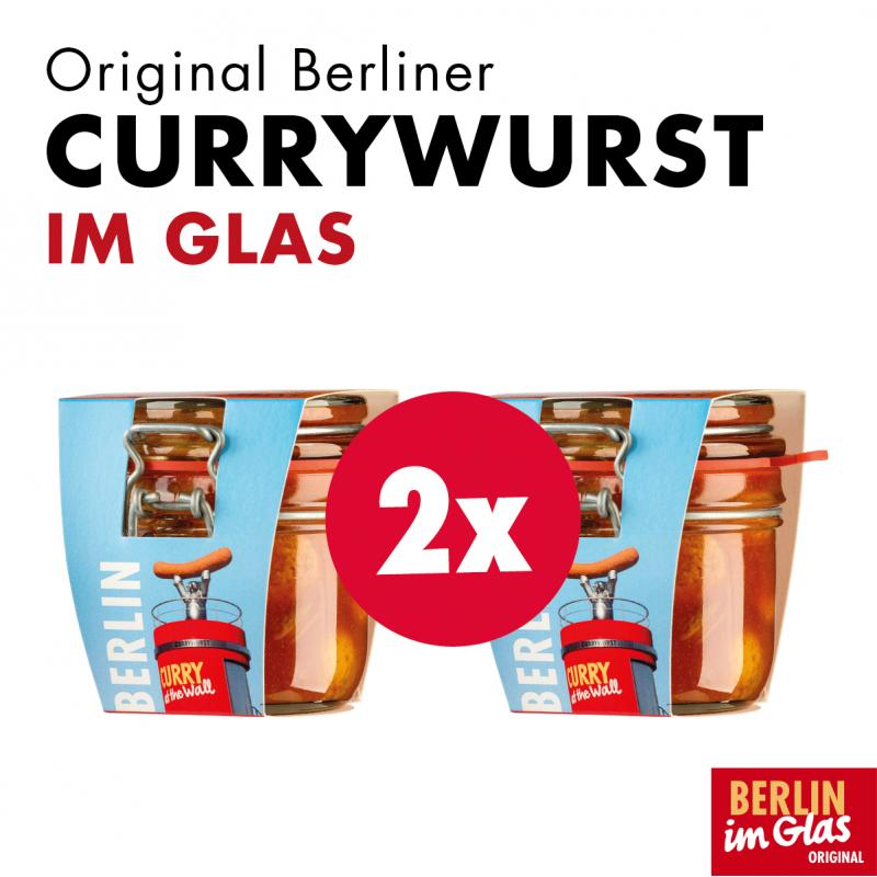 Original Berliner Currywurst im Glas 2er Pack