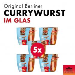 5x Berliner Currywurst im Glas