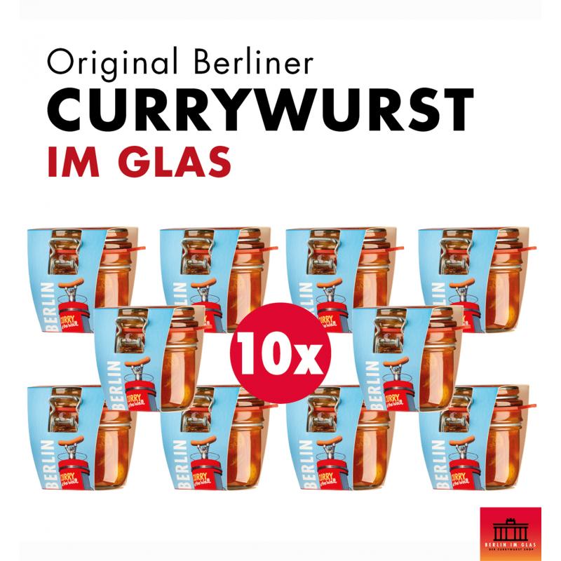 10x Berliner Currywurst im Glas