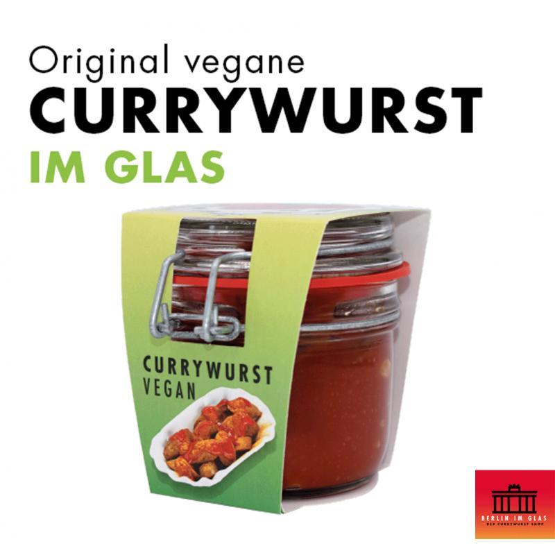 Vegane Currywurst im Glas