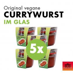 5x Vegane Currywurst im Glas