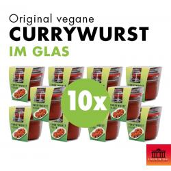 10x Vegane Currywurst im Glas
