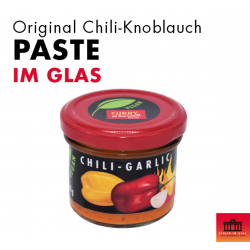 Chili-Knoblauch Paste im Glas