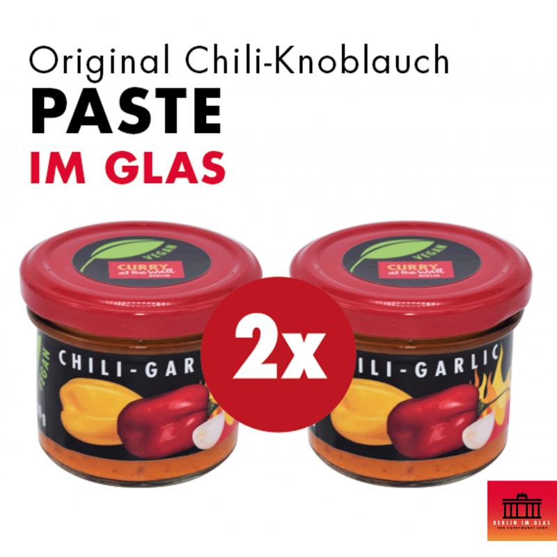 2x Chili-Knoblauch Paste im Glas