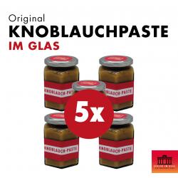 5x Knoblauchpaste im Glas