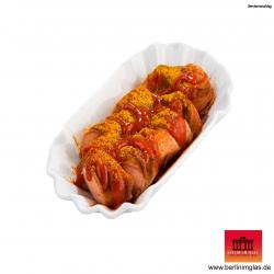 Berliner Currywurst im Glas